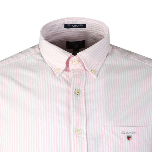 Gant Mens Pink Oxford Banker LS Shirt main image