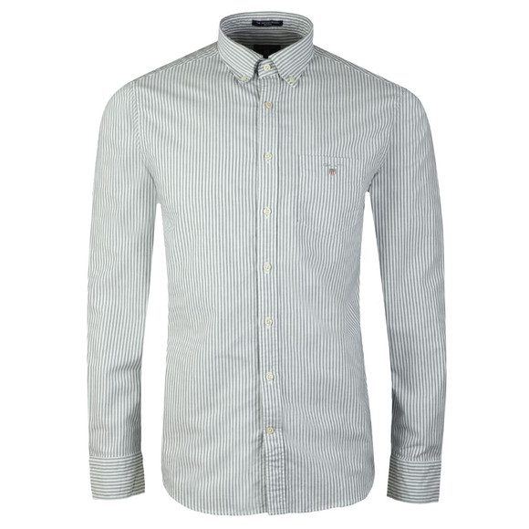 Gant Mens Green Oxford Banker LS Shirt main image