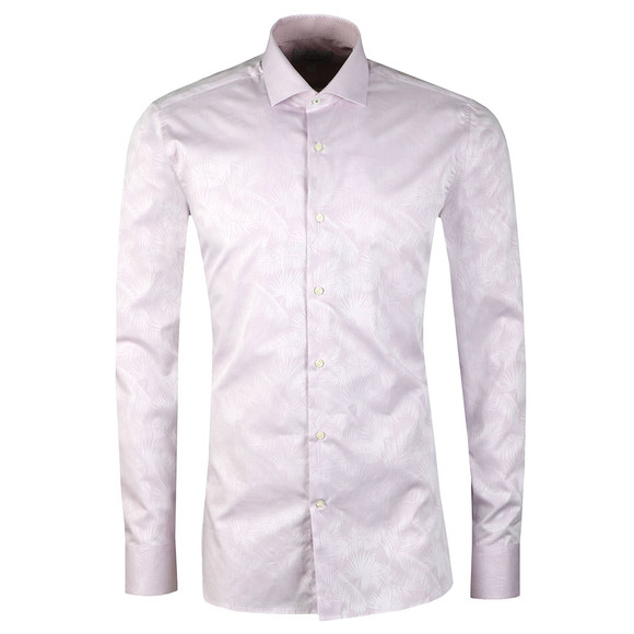 Ted Baker Mens Pink Muggin L/S Palm Leaf Shirt
