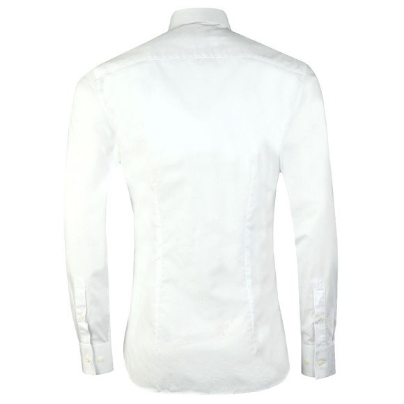 Ted Baker Mens White Dusks L/S Geo Jacquard Shirt main image