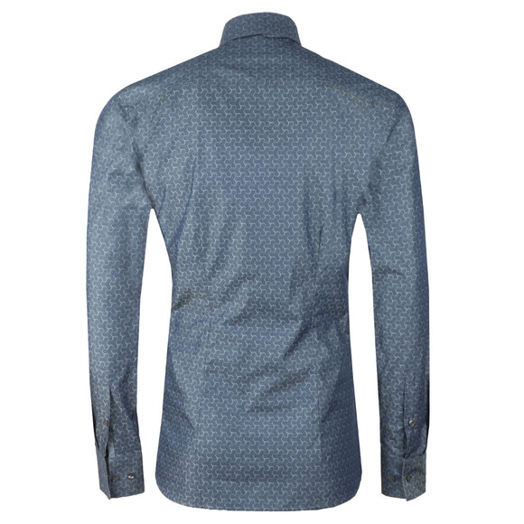 Ted Baker Mens Grey Dusks L/S Geo Jacquard Shirt main image