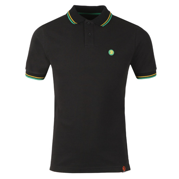 Trojan Mens Black Tipped Polo Shirt main image
