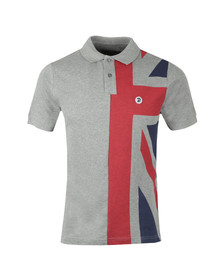 Trojan Mens Grey S/S Flag Front Polo