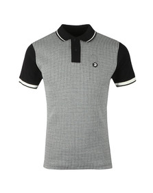 Trojan Mens Black Houndstooth Polo