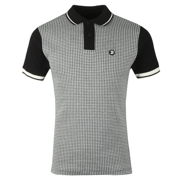 Trojan Mens Black Houndstooth Polo main image
