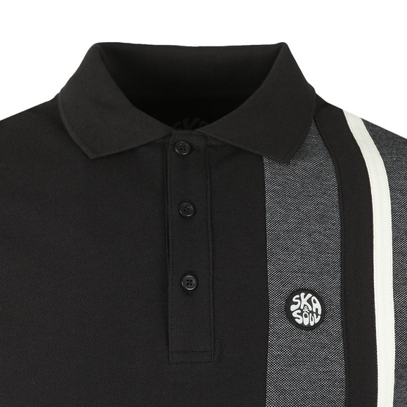 Ska & Soul Mens Black Stripe Polo main image