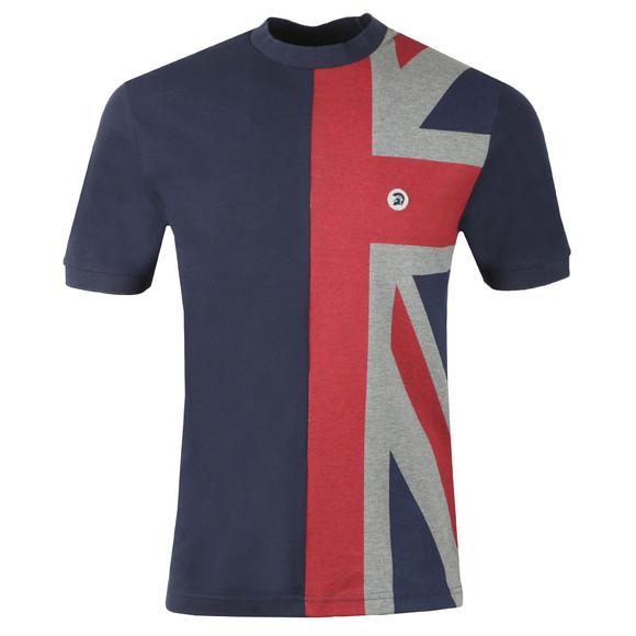 Trojan Mens Blue S/S Flag Front Tee main image