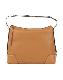 Michael Kors Womens Brown Crosby Large Shoulder Bag