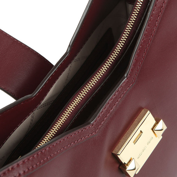 Michael Kors Womens Red Whitney Small Chain Shoulder Tote Bag main image