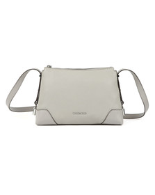 Michael Kors Womens Grey Crosby Mid Messenger Bag