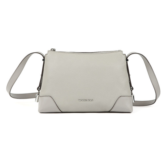 Michael Kors Womens Grey Crosby Mid Messenger Bag main image