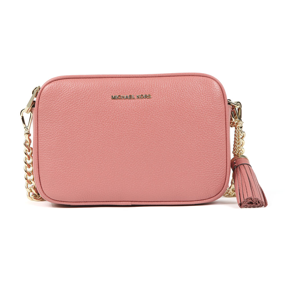 b58f29b01aa266 Michael Kors Womens Pink Mid Camera Crossbody Bag