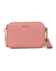 Michael Kors Womens Pink Mid Camera Crossbody Bag