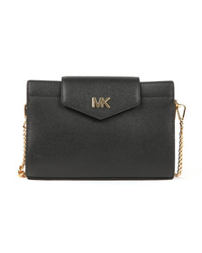 Michael Kors Womens Black Large Crossbody Clutch