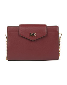 Michael Kors Womens Red Large Crossbody Clutch