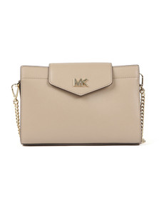 Michael Kors Womens Beige Large Crossbody Clutch