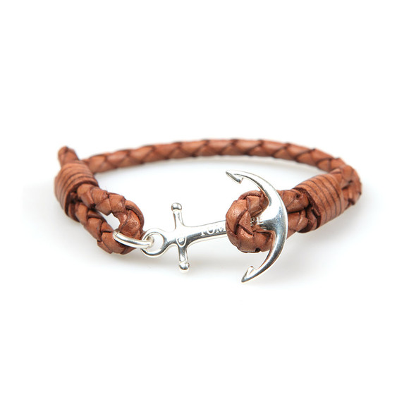 Tom Hope Unisex Brown Single Leather Collection Bracelet main image