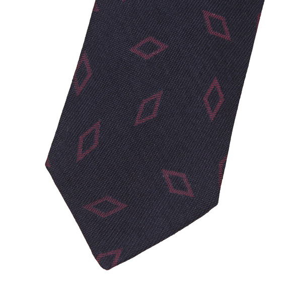 Eton Mens Blue Large Diamond Pattern Tie