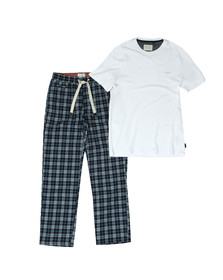 Ted Baker Mens Blue Check Loungewear Set