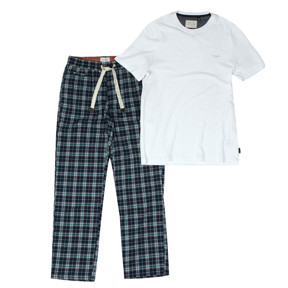 Ted Baker Mens Blue Check Loungewear Set main image