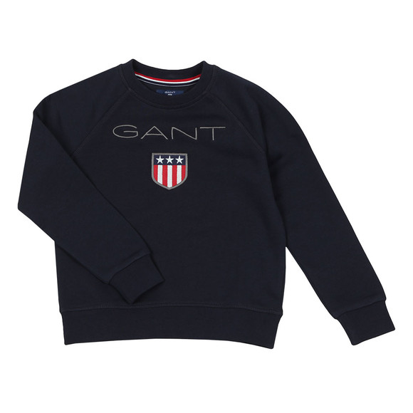 Gant Boys Blue Gant Shield Logo Crew Neck Sweat main image