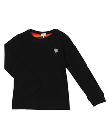 Paul Smith Junior Boys Black Sullivan 2 Long Sleeve Tee