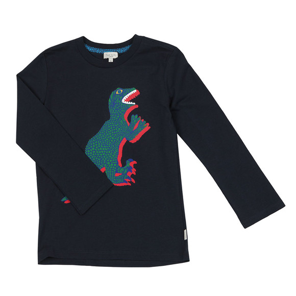 Paul Smith Junior Boys Blue Dinosaur T Shirt