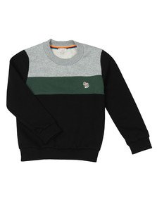 Paul Smith Junior Boys Black Triple Panel Zebra Sweat