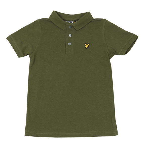Lyle And Scott Junior Boys Green Classic Marl Polo Shirt main image