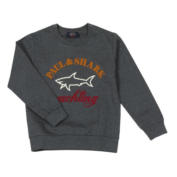 Paul & Shark Cadets Boys Grey Large Logo Crew Sweat main image
