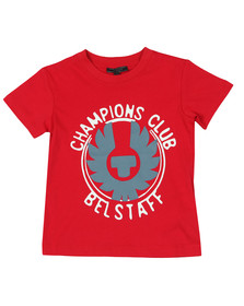 Belstaff Boys Red Boys Hanway Champion T Shirt
