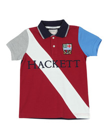 Hackett Boys Red Sash Badge Polo Shirt