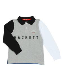 bcf1f0e45 Hackett Boys Grey AMR Multi Long Sleeve Polo Shirt