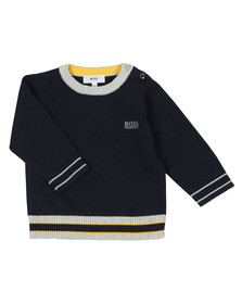 BOSS Baby Boys Blue Baby J05665 Jumper