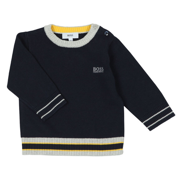 BOSS Baby Boys Blue Baby J05665 Jumper main image