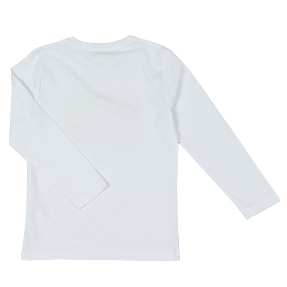BOSS Bodywear Boys White Boys J25D05 Long Sleeve T Shirt main image