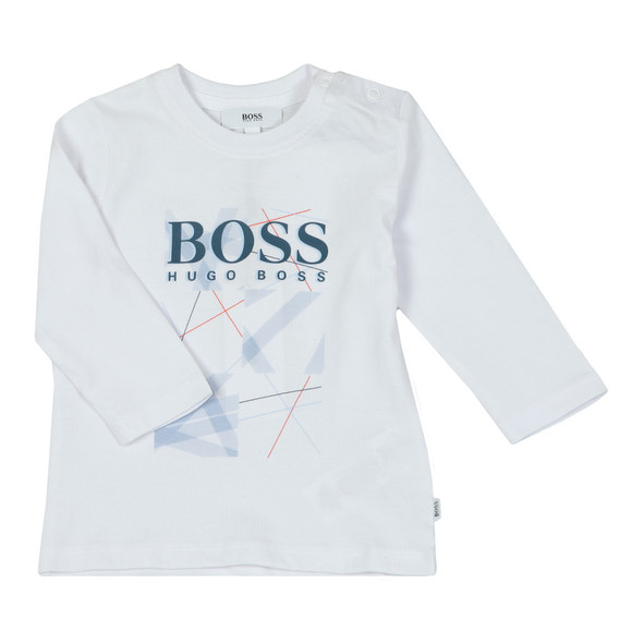 BOSS Baby Boys White Baby J05680 Logo T Shirt main image