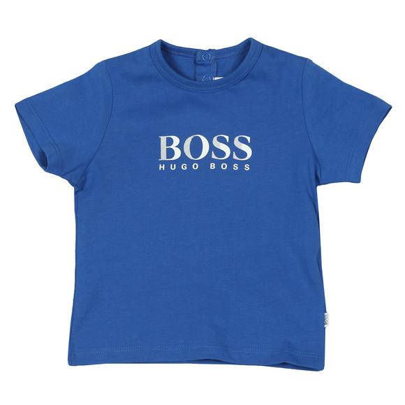 BOSS Baby Boys Blue Baby J05672 Logo T Shirt main image