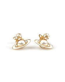 Vivienne Westwood Womens Gold Iris Bas Relief Earring