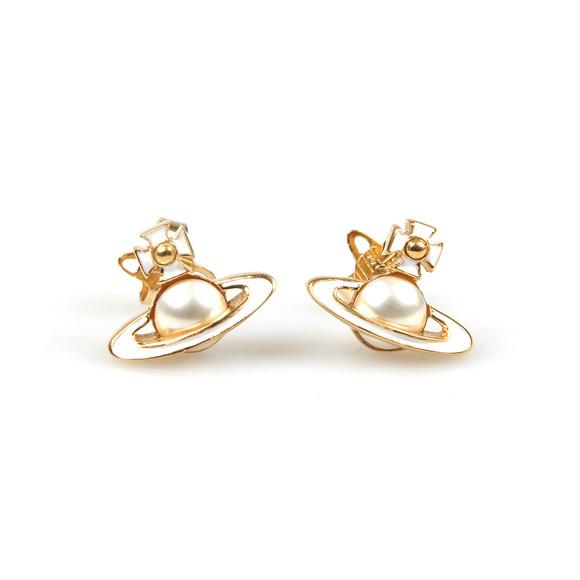 Vivienne Westwood Womens Gold Iris Bas Relief Earring main image
