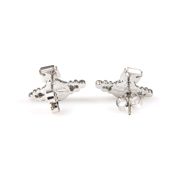 Vivienne Westwood Womens Silver Lena Bas Relief Earring main image