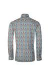 Ska & Soul Mens Blue L/S Digital Print Shirt
