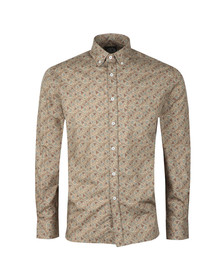 Ska & Soul Mens Beige L/S Digital Print Shirt
