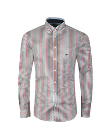 Fynch Hatton Mens Grey L/S Stripe Shirt