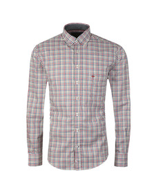Fynch Hatton Mens Grey L/S Check Shirt