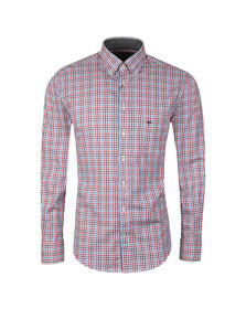 Fynch Hatton Mens Blue L/S Check Shirt