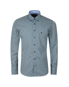 Fynch Hatton Mens Blue Winter Fond Check LS Shirt