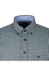 Fynch Hatton Mens Blue Winter Fond Check LS Shirt