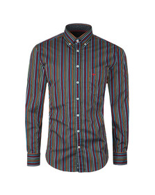Fynch Hatton Mens Blue L/S Stripe Shirt