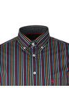 Fynch Hatton Mens Blue L/S Stripe Shirt